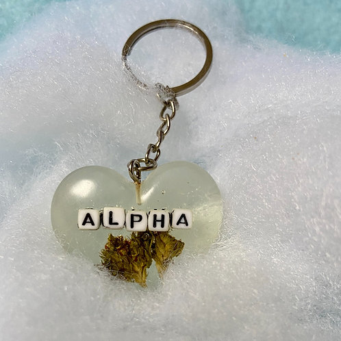 Hemp Alpha Clear Keychain