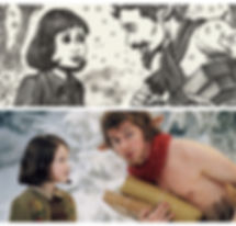 The Chroncles of Narnia storyoard by David Russell and film stll