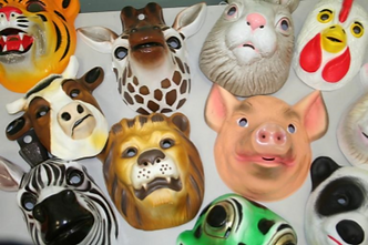 Assorted animal masks