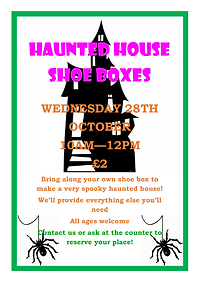 Haunted House Shoe Boxes