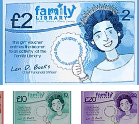 Gift Vouchers £2, £5, £10 and £20