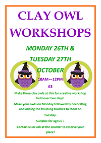 Clay Owl Workshops