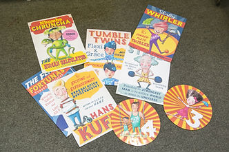 Assorted laminated Circus images