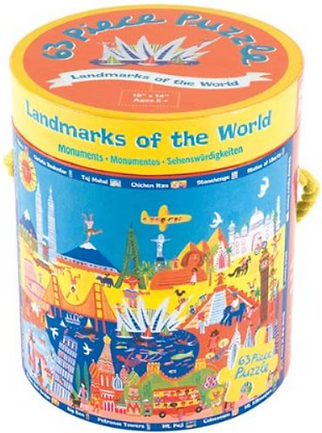 Landmarks of the World 63 Piece Puzzle