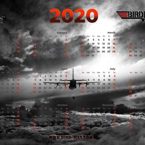 2020 - BIRDMAN desktop Calendar