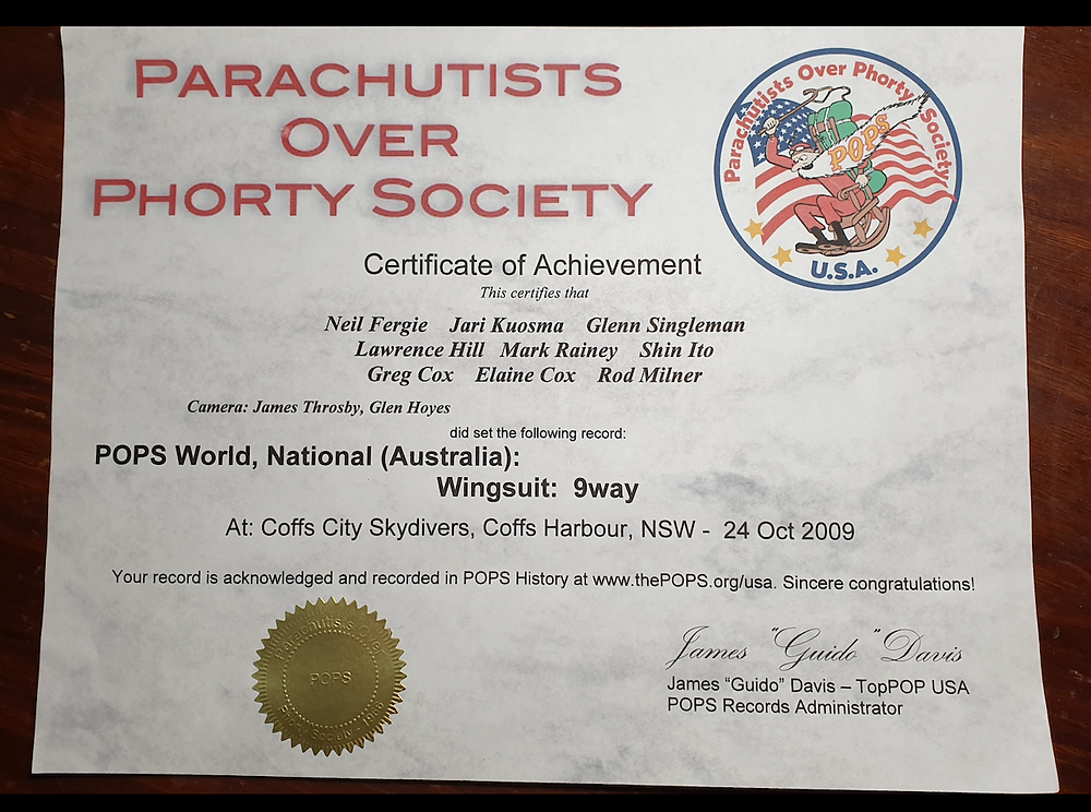 World Record Certificate