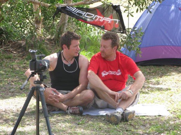 I & Neil doing an interview