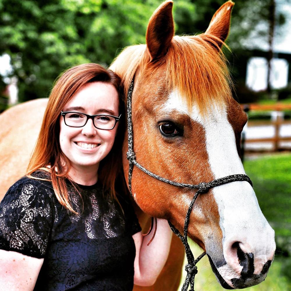 Emily & Roxie (life partner and horse)