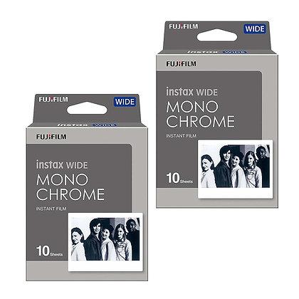 Combo Instax Wide Monochrome x2 cajas de 10 films