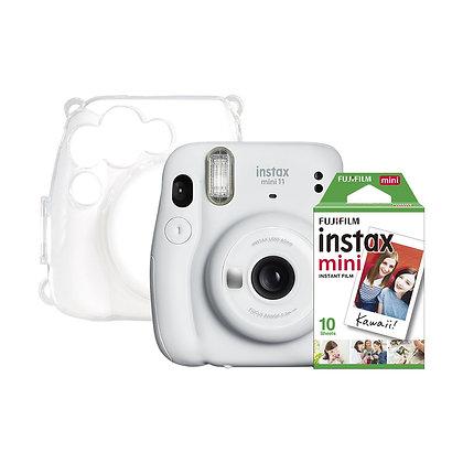 Kit Instax Mini + Clear case + Films x 10