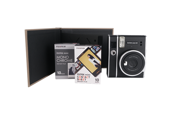 Kit Instax Mini 40 + Álbum + 2 Cajas De Film X 10 De Diseños.