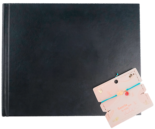 Photobook 20cm x 25cm - 24 pág. - Portada negra + Pulsera
