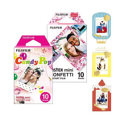 Combo x2 film pack x10 mini (Diseños) + 1 Frame