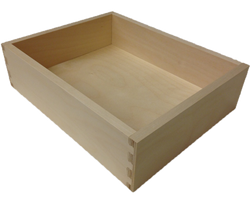 dovetailed hardwood drawer