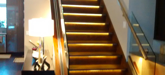 stairs lit up