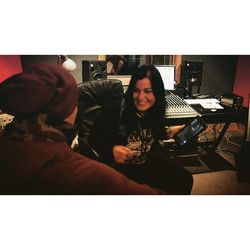 #jamming with _rickpuddumusic #music makes me smile _) #studiosession #friday