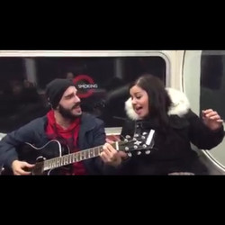 Too #GRATEFUL to the lady who sent me the video she made of me playing #live on the #bakerloo line l