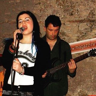 #ThrowBackThursday #tbt #RockChick at #work!!! #LookAtMyBeltThough #BlueHair #Mic #love #Italians #S