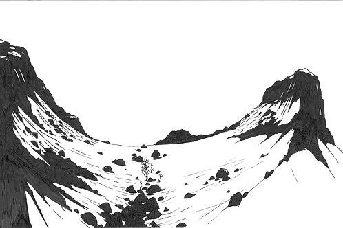 Mountain Pass | Matted Print