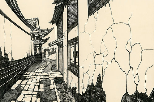 Yunnan Alley | Matted Print