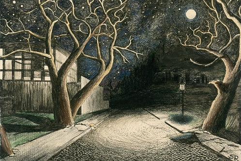 Midnight Street | Matted Print