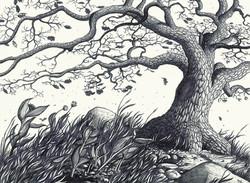 Oak Tree in the Wind
