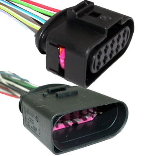 Chicote Plug Conector Farol Gol G3 Kit Macho E Fêmea