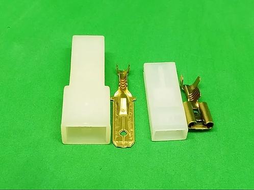 Terminal Fêmea 6,3mm E Macho 6,3mm Com Capa Para Fio Até 2,5