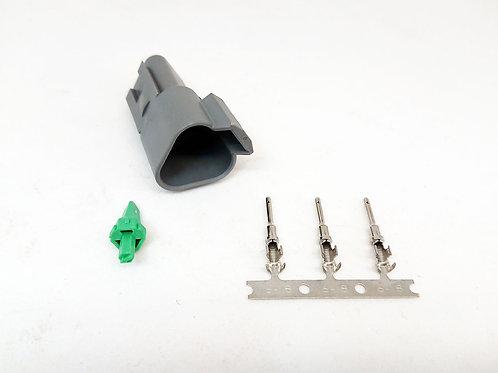 Soquete Plug Conector Fêmea Linha Agrícola Máquinas DT04-3P Desmontado