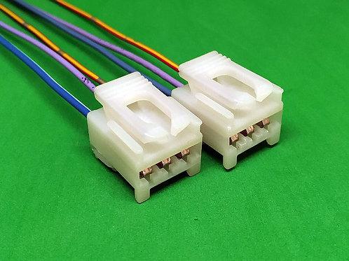 Soquete Plug Conector Lanterna Traseira Siena Com 2 Pçs