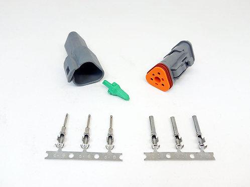 Kit Soquete Plug Conector Fêmea Linha Agrícola Máquinas DT06-3S/DT04-3P