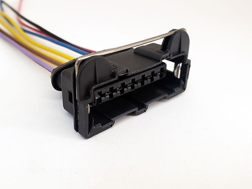 Chicote Plug Conector Buldogue 7 Vias Modulo Ignição Bobina Linha Leve