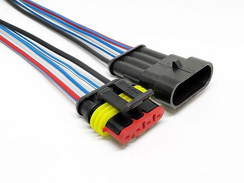 Soquete Plug Conector Macho E Fêmea 4 Vias Para Instalação