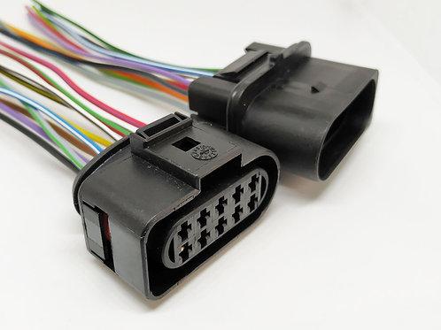 Soquete Plug Conector Retangular Farol Punto, Palio e Stilo Kit C 02