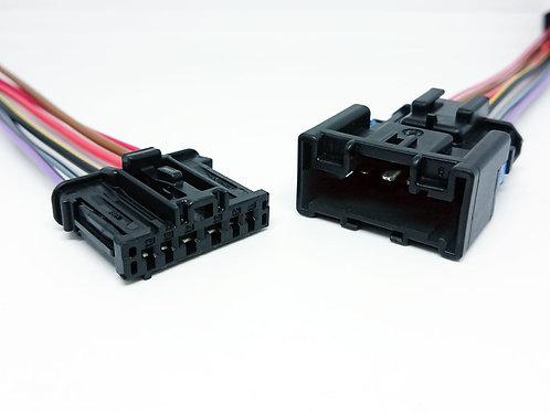 Kit Chicote Plug Conector LanternaTraseira Peugeot Renault Citroen Macho e Fêmea