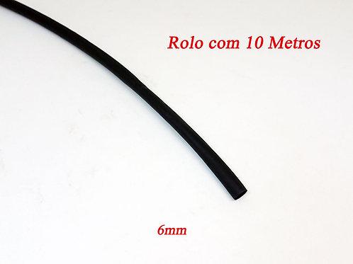 Espaguete Tubo Termo Retrátil 6,00mm² S/Cola - 10 Metros