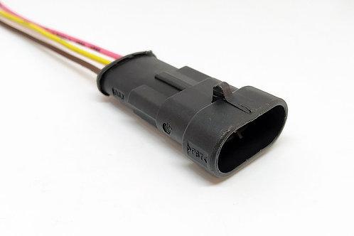 Soquete Plug Conector Macho 3 Vias Instalação Em Geral