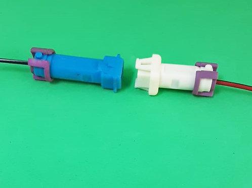 Conector Macho e Fêmea 1 via Lanterna VW, Chicote Reparo Elétrico e Injeção