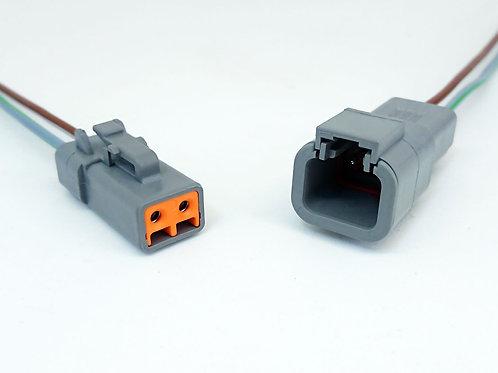Kit Conector Macho E Fêmea Deutsch Dtp06-2s / Dtp04-2p
