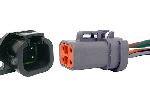 Chicote Plug Conector Linha Agrícola Máquina Dtp04-4p 2un