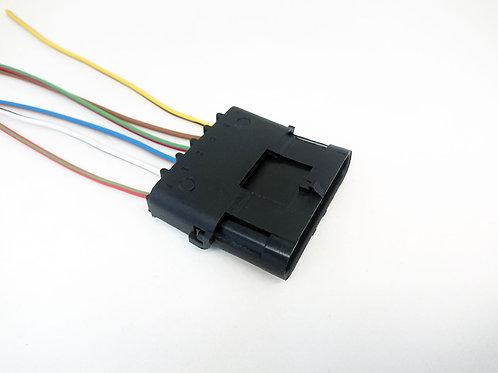 Soquete Plug Conector Elétrico Para Máquinas 6 Vias Macho