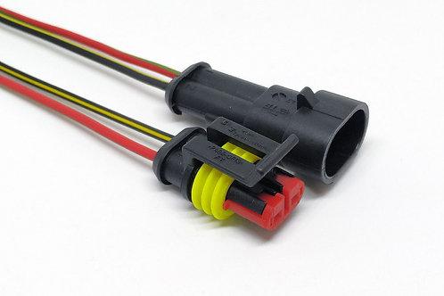 Soquete Plug Conector Macho E Fêmea 2 Vias Para Instalação