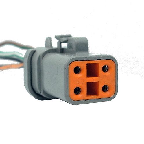Soquete Plug Conector Fêmea Linha Agrícola Máquinas Dtp06-4s