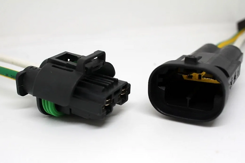 Soquete Plug Conector Resistência Ventoinha Citroem C3 Par