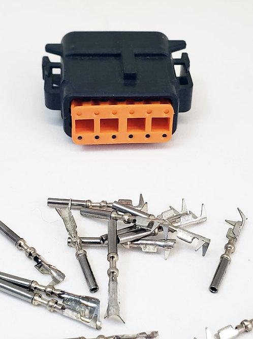 Conector Plug Fêmea Linha Agrícola Máquinas Dtm06-12s