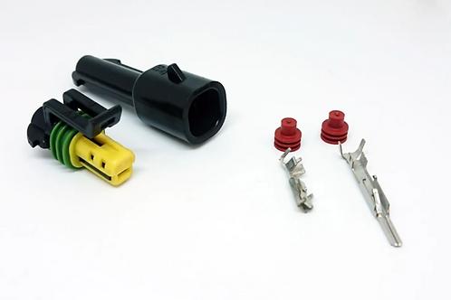 Chicote Plug Conector 1 Via Macho Femea Selado P/ Adaptação