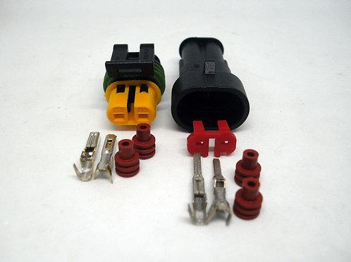 Soquete Plug Conector Macho Fêmea Kit 2 Vias