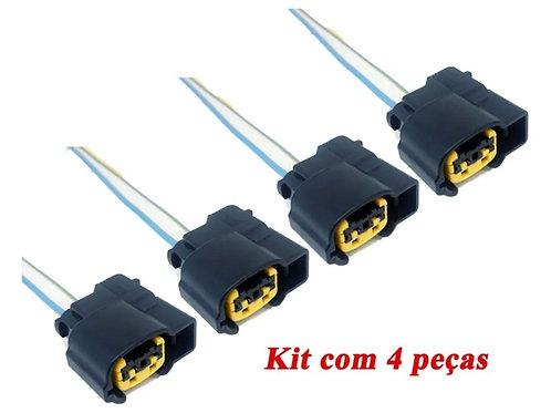 Kit Chicote Conector Bobina Ignição Hyundai Hb20 I30 4pçs