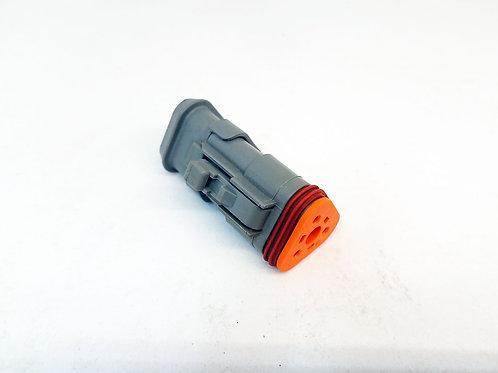 Soquete Plug Conector Fêmea Linha Agrícola Máquinas DT06-3S Desmontado