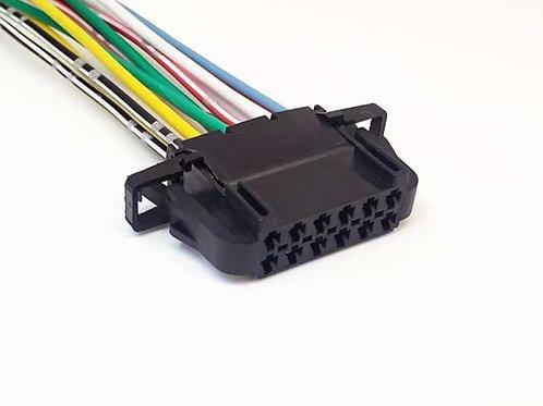 Chicote Plug Conector Retrovisor Elétrico Voyage, Saveiro Gol G6 G7